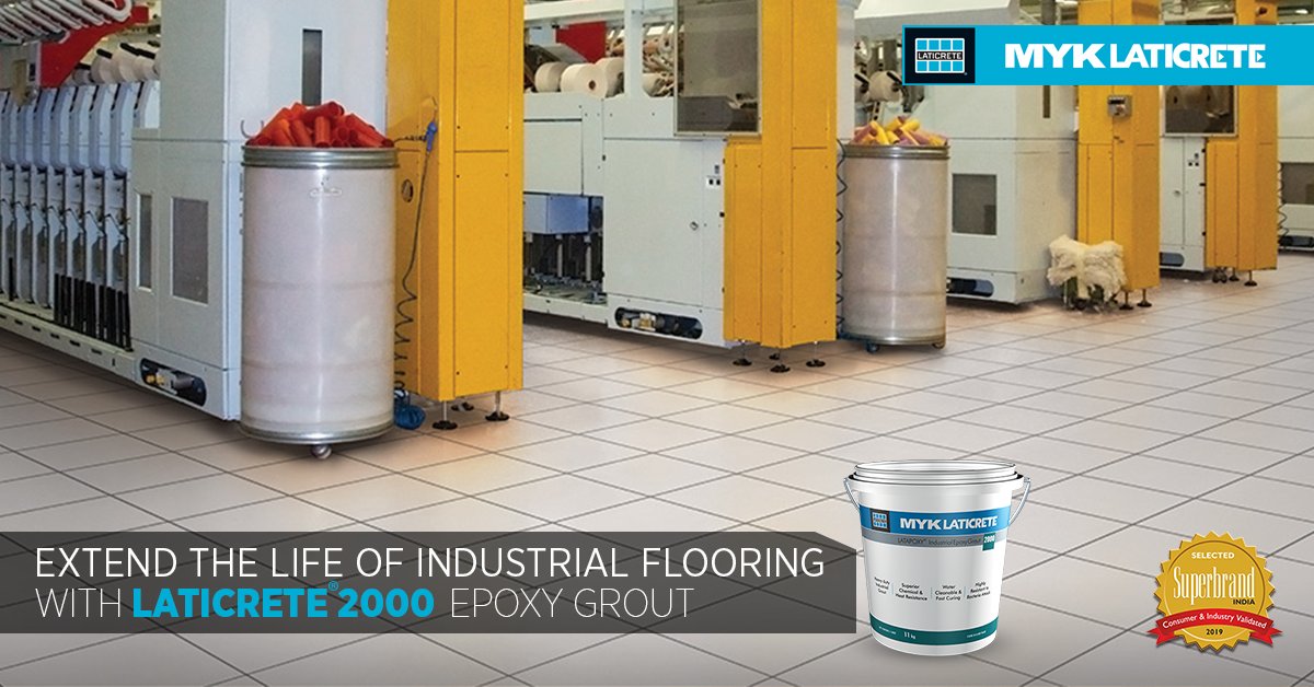 Extend the Life of Industrial Flooring with LATICRETE 2000 Epoxy Grout