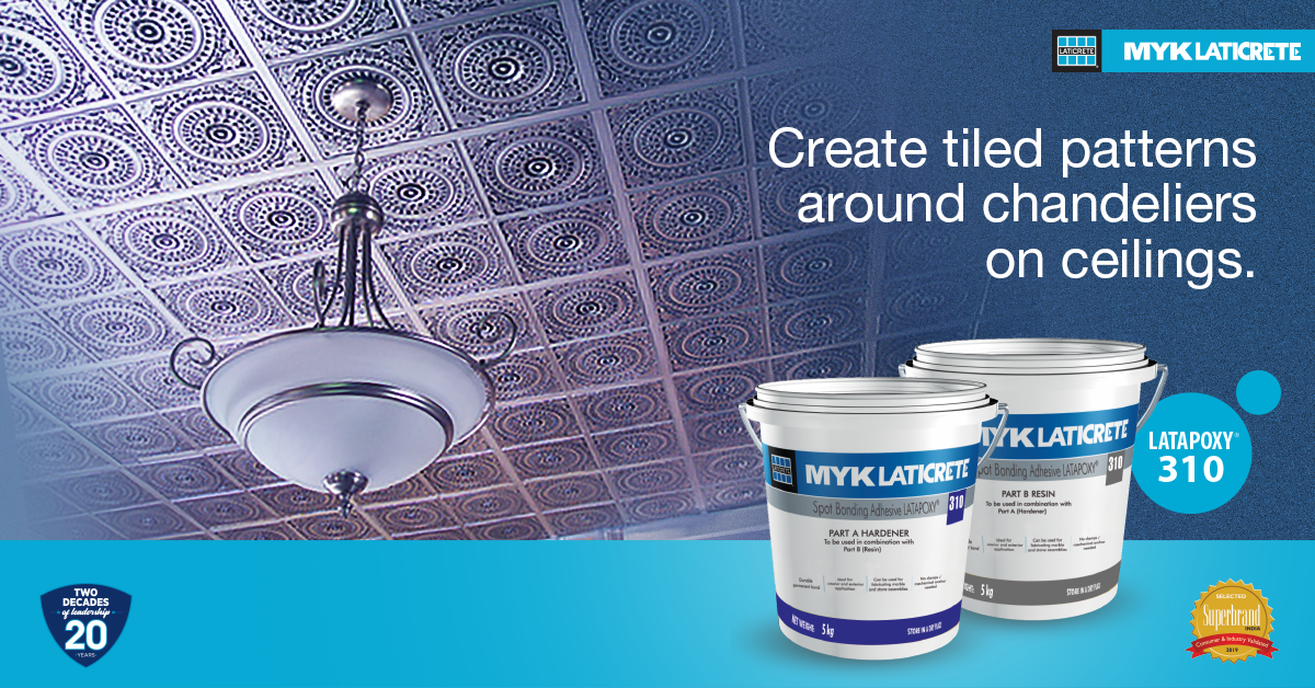 Catch up with the latest trends of tile patterns on ceilings with LATAPOXY 310