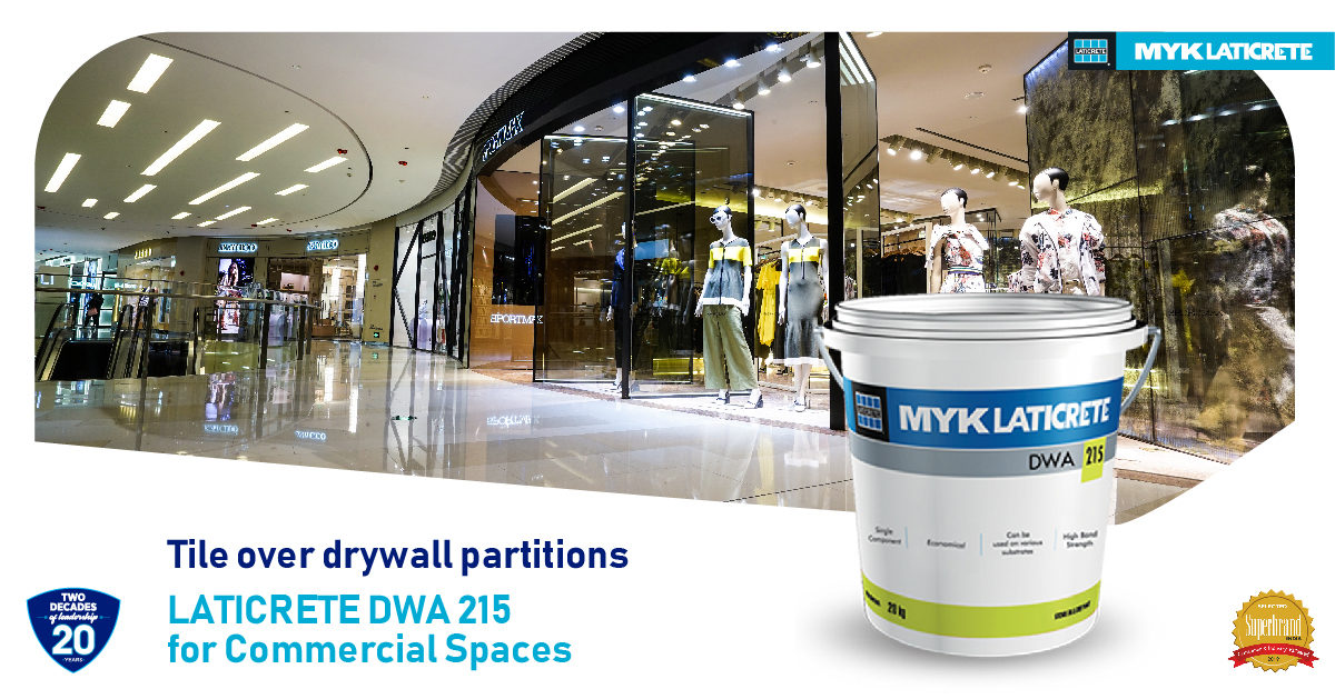 The ideal adhesive for commercial space – DWA 215